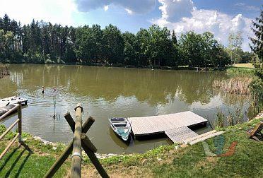 Pronájem chaty u vlastního rybníka