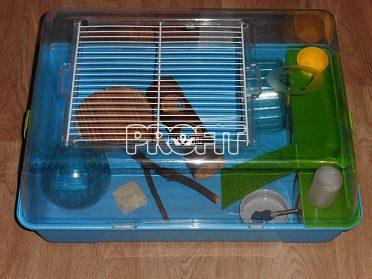 Plastová klec pro křečka
