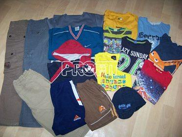 Dva pytle chlapeckého oblečení vel. 110-128, 95ks