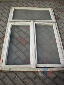 Okna s rámem zasklená