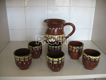 Kávová soupr.keram.+ nápojové sklenice+porcel tal.aj.