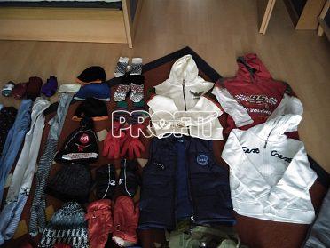 Plný velký pytel oblečení kluk 134-140+zimní boty zdarma