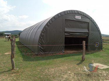 oblouková hala 20x9m (PVC 650g/m2)