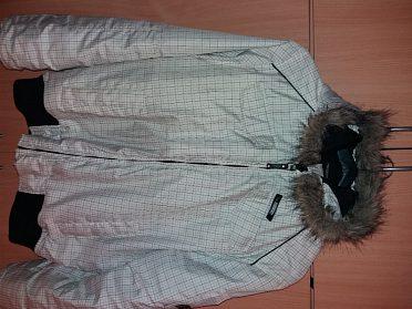 Pánská zimní bunda RESERVED s kapucí - kožíšek...