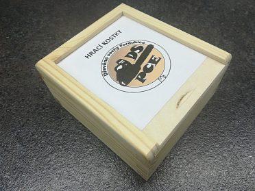 Hrací kostky - ručně vyráběné - Krabička / Měšec