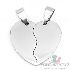 Partnerský přívěsek srdce