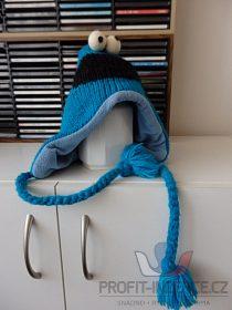 Vlněná modrá čepice