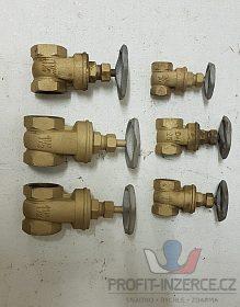 topenářské ventily - šoupátka