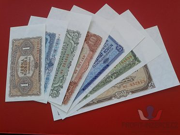 Série 7 ks bankovek vzor 1953 N/UNC