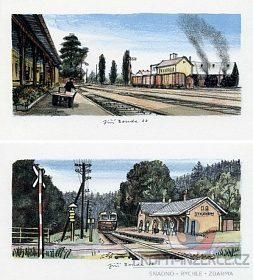 Sháním litografii Jiřího Boudy - nádraží