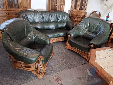 Kožená sedací souprava rustikální