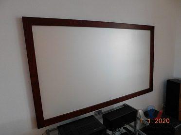 Projekční plátno v pevném rámu 202 cm