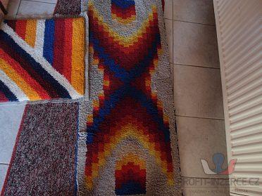 ručně vázané vlněné koberečky