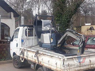 Minibagr  mechanizace lesní i stavby