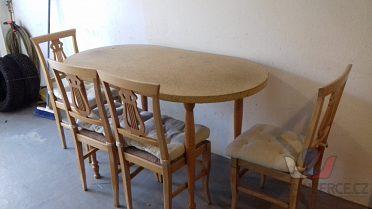 Prodám 4 židle a stůl
