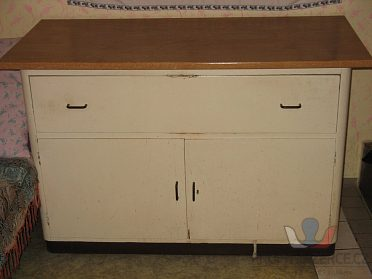 Stůl umývací kuch.2 dřezy se skříňkou.