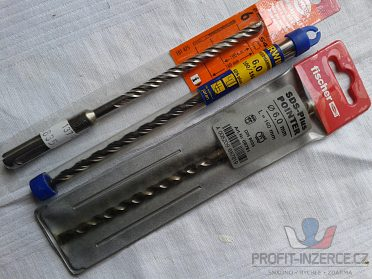 vidiové vrtáky průměr 10mm, 12mm, 16mm a