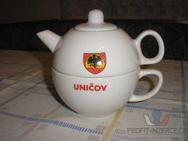Porcelánová čajová souprava Uničov