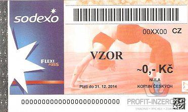 Koupím poukázky Flexi pass Sodexo apod.
