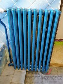 Litinové radiátory + litinová vana