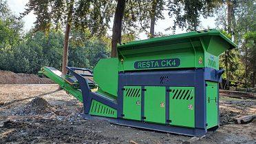 Mobilní drcení stavebního odpadu
