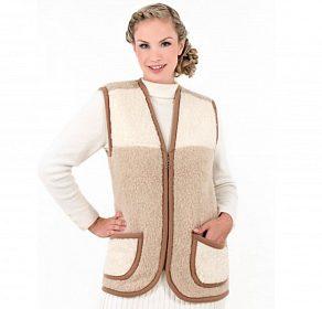 Hezká dámská vesta z ovčí vlny
