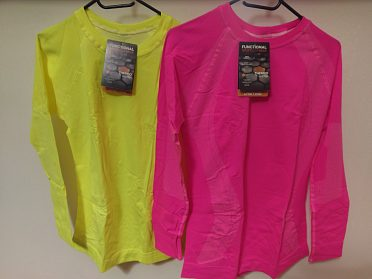 Funkční- termo triko - neon žlutá, tm.růžová