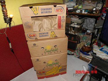 Prodám čisté krabice od banánů.