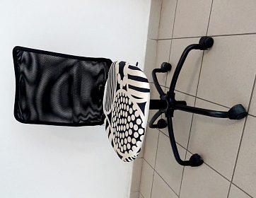 Otočná kancelářská židli. Výškově stavitelná