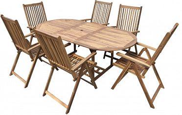 Dřevěná sestava nábytku z akácie