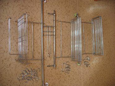 Kuchyňský drátěný set - chrom-sleva.