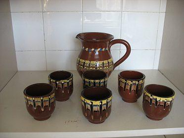 Kávová soupr.keram.+ nápojové sklenice+porcel tal