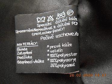 Prodám pánskou koženou bundu  černou vel. M