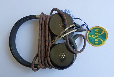 Starožitná vysokoohmová sluchátka, nová (NOS), 4000 ohmů