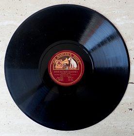 Starožitná gramofonová deska His Master's Voice Ktož jsu boží bojovníc