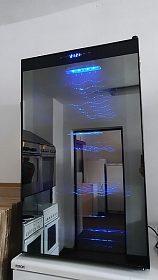 Vinotéka Guzzanti, display, vnitřní ambientní osvětlení