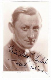 Vlasta Burian fotografie s věnováním a autogramem