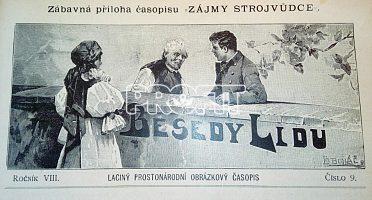 Starožitné časopisy Besedy lidu, svázané