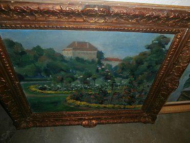 Obraz olejomalba - kresba ze Stromovky