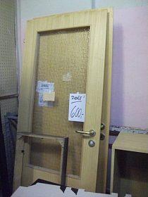 Prosklené dveře, levé 75cm, cena 600,-kč