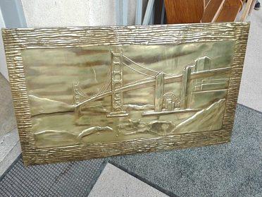 Obraz měď, cena 1.000,-kč, délka 115cm, výška 43cm