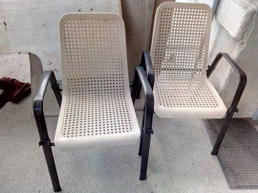 4x zahradní židle kov + plast, pevné, pohodlné, kvalitní, cena za 4 kusy 2.000,-kč