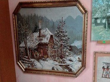 Vyšívaný obraz, cena 1.500,-kč