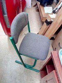 Židle kovová lostra, polstrování, cena 350,-kč
