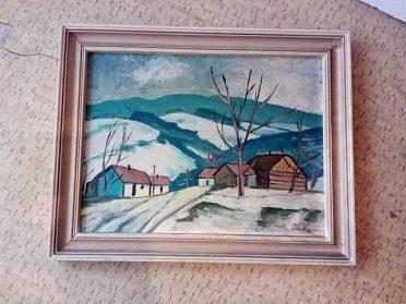 Pěkný malovaný obrázek, cena 450,-kč