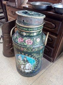 Malovaná konev k dekoraci, cena 2.500,-kč
