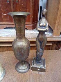 Velká kovová váza, cena 600,-kč