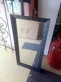 Zrcadlo kovový rám, cena 890,-kč