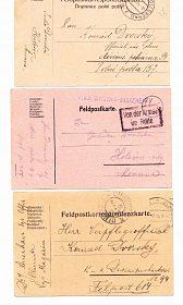 Rakousko - Uhersko - dopisnice vojáků 1. světové války - rok 1915