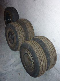 Plechové disky (165/70/R13) vč. pneu